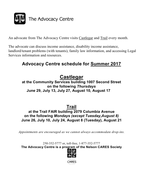 Microsoft Word - An advocate from The Advocacy Centre visits Castlegar and Trail every month.jpg_page_1