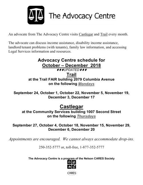 2018 Sept - Dec Trail Castlegar schedule.pdf_page_1